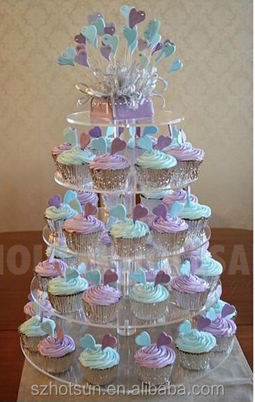 5 Tier Acrylic Cupcake Stand For Wedding Birthday Parties