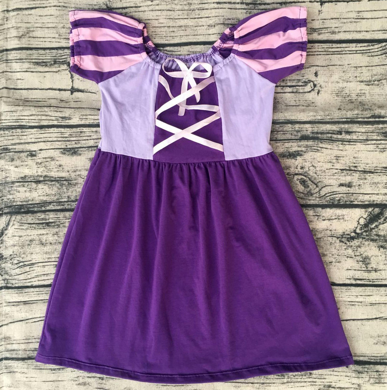 Las Muchachas Del Bebé Al Por Mayor Torre Rapunzel Inspirado Vestido ...