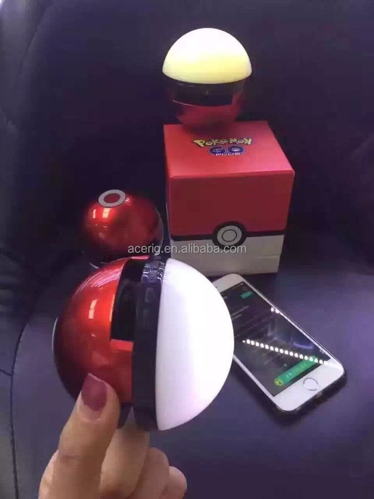 Portable wireless pokeball 2.1 version bluetooth speaker with LED, handsfree call TF card slot