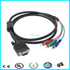 HD 15pin male to rca s video vga cable