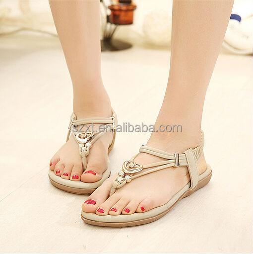 Latest Girls Pink Cheap Flats Sandal 2014 New Style Summer Womens ...