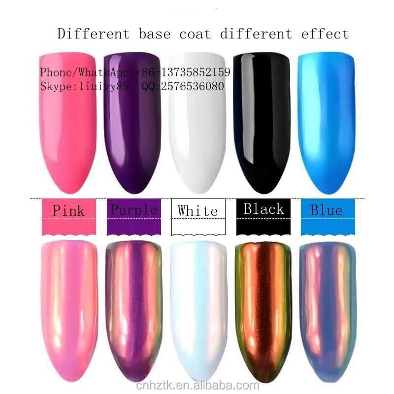 Aurora Mermaid Pigment Powder/mirror Effect Aurora Chameleon Nail ...