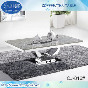 CJ-816#Modern living room furniture Modern marble top centre coffee table