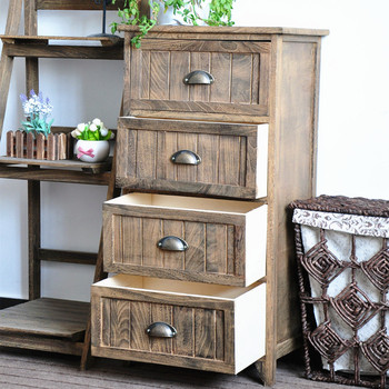 Quality Antique Receiving Cabinet Unfinished Furniture Corner Cupboard European Chest Of Drawers Counter