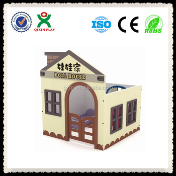 Commercial Center Amusement Childrens Play House QX 204C/ Wooden Child Play  House/ Indoor