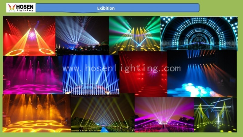 New product 8x3W led RGBW 4in1 Eight eye led beam light with gobo
