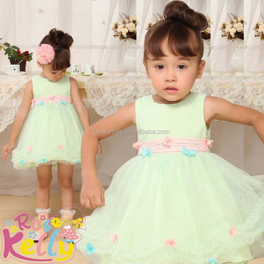 Hot Sale Flower Puffy Baby Girl Wedding Clothesadult Baby Clothes