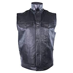 Leather Motorcycle Club Vest MV913N 5XL