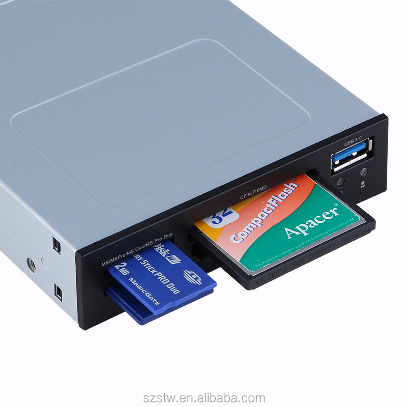 PC Case Internal 3.5 Inch Floppy Disk Drive USB 3.0 Card Reader