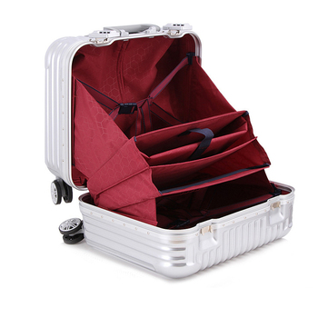 a5ed47510c62 18 Inch Hard Case Carry On Cabin Laptop Travel Bag,Metal Aluminum Frame  Rolling Wheeled Trolley Luggage Suitcase Travel Case - Buy Travel Bag ...