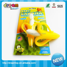 china factory BPA-free baby teether toys silicone baby banana teether