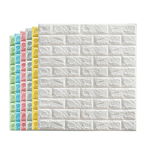 China supplier factory Self adhesive wall paper rolls stone wallpaper cheap pvc 3d brick wallpaper