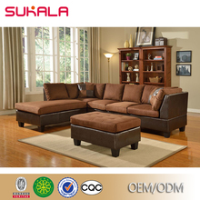 Luxury vintage brown corduroy couch oversized sectionals sofa