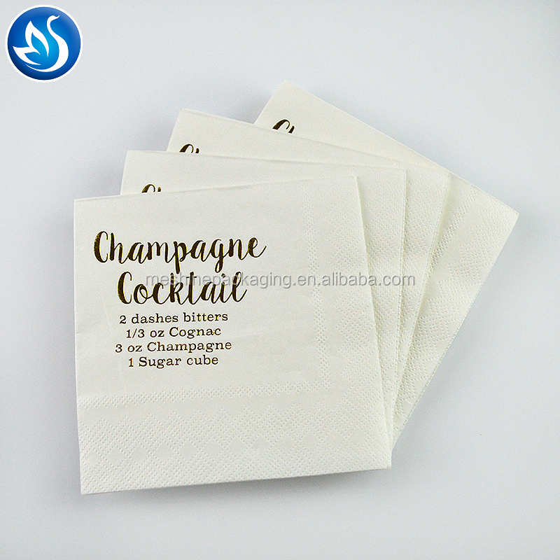 Custom Printing Cocktail Paper Towel Paper Napkin