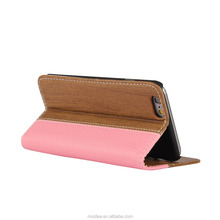 For Iphone 6 Wholesale Flip Leather OEM phone case mix colors