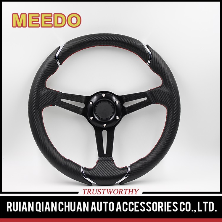 Automotive Interior PU synthetic leather,PVC ,suede,genuine leather,carbon fiber 60mm dish dia 350mm rally car steering wheel