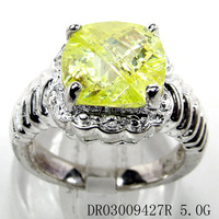 show silver ring Peridot setting jewerly company products