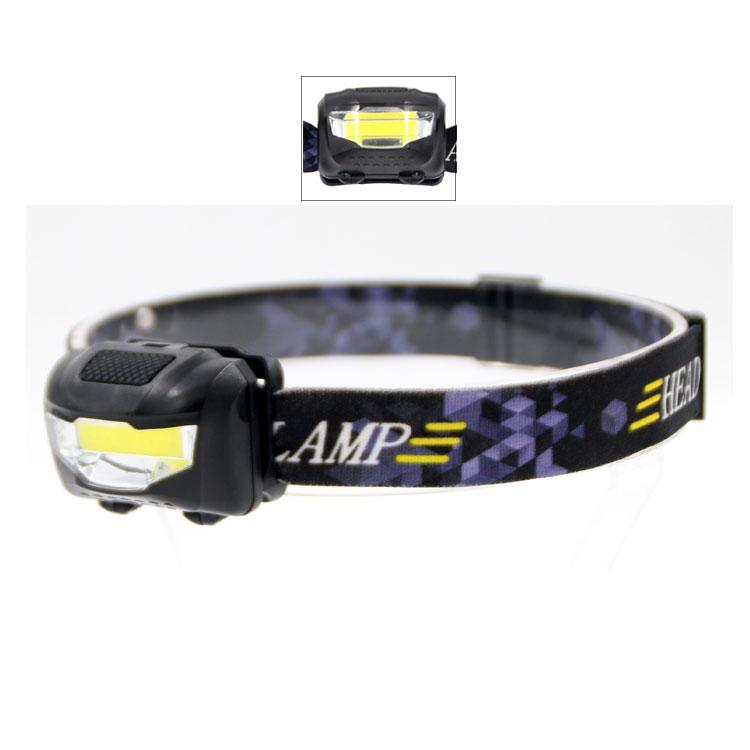 Bright 2000LM COB LED AAA Scheinwerfer wasserdicht Licht Lampe Torch Stirnlampen