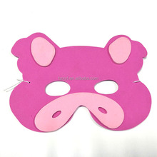 Hot sale EVA Soft Foam Animal Party Mask - pink pig