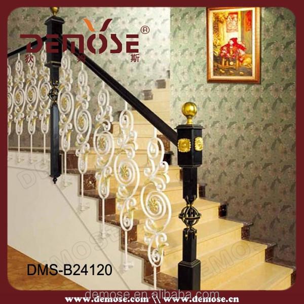 indoor precio barandillas de hierro forjado pasamanos de madera para escaleras