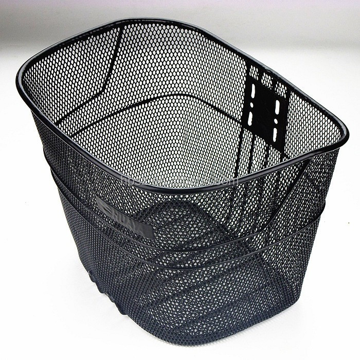 folding bicycle basket/bicycle hanging basket/bicycle accessories steel wire basket