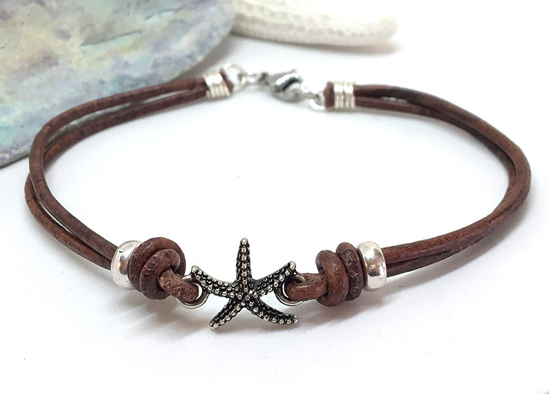 Get Quotations · Leather Anklet, Leather Bracelet, Boho Jewelry, Ankle  Bracelet, Beach Jewelry, Unisex 7bbf6f5070