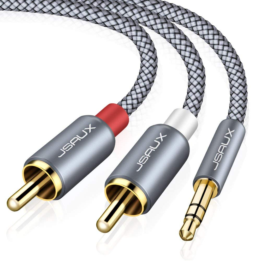 Cheap Rca Powered Speakers Find Deals On Line Speaker Wire To Plug Converter Cable Get Quotations Jsaux 66ft Dual Shielded Gold Plated 35mm