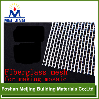 good quality glass fiber mosaic grid for making mosaic from Meijing