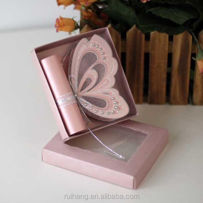 Crystal Butterfly Shape Wedding Invitations With Boxi Wedding Card – Elegant Butterfly Wedding Invitations