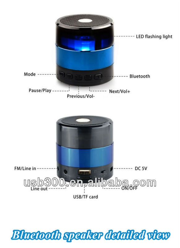 Multi-Functional Stereo Bluetooth Speaker For iPhone 4 4S 5/iPad 2 3 4 Mini/Samsung Galaxy SDY-001