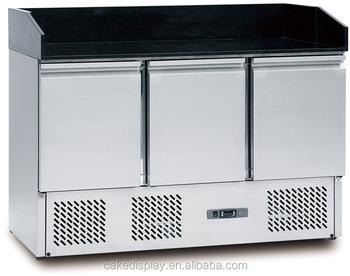 Mini Kühlschrank Mit Gefrierfach Für Pizza : Marmor top salat pizza sandwich unterbau kühlschrank
