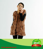New Sytle Genuine Real Rex Rabbit Fur Warm Pretty Fashion Woolen Winter European Coats On Sale