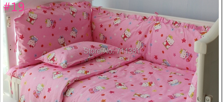 Free Shipping Baby Girl Crib Bedding Sets With Quilt