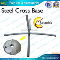 Painting foldable steel cross base stand for beach flags