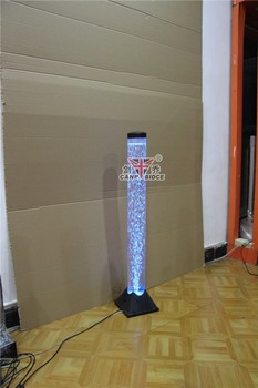 Interior water features bubble tube light led floor lamps with fish ...