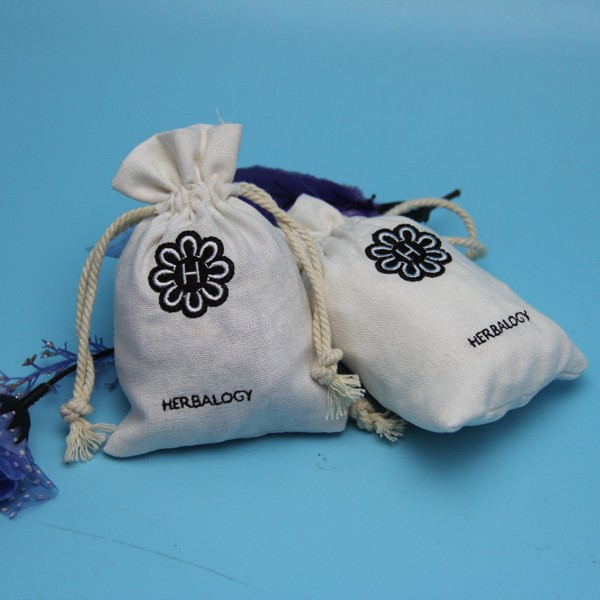 Wholesale drawstring cotton indian jewelry pouch