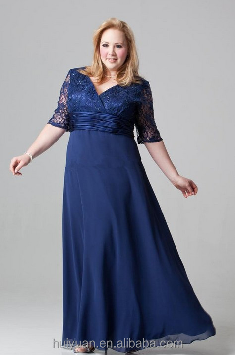 Lace And Chiffon Evening Dress Mother Of The Bride Dress For Fat ...