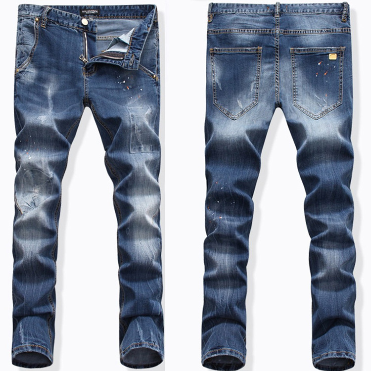Jeans clothing manufacture oem custom men tight jeans pants