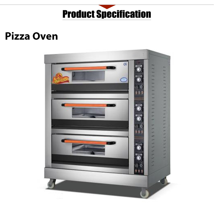 Three Deck Electric Fast Pizza Oven Commercial with 400 Degrees High Quality Pizza Hut Pizza Oven