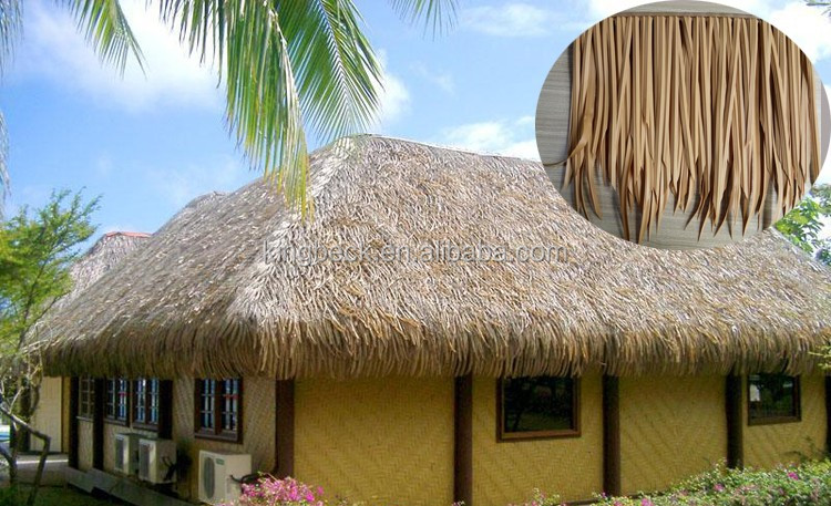 Kingbeck Imitation Of Reed Leaf Cheap Roof Tile Thatch Palm Leaves Roofing