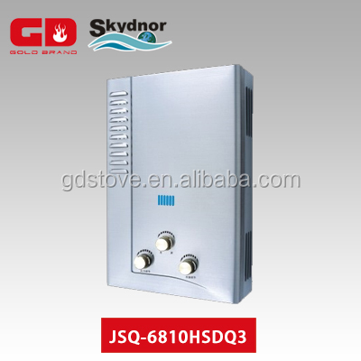 Gas Tankless Water Heater with Flue Type in 6L gas water heater sale