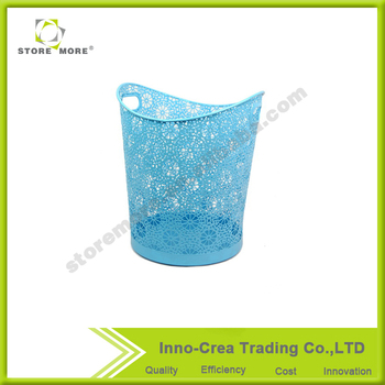 Cylindrical Metal Mesh Trash Can Wastebasket Of Home And Office Waste Bins  Storage And Organization