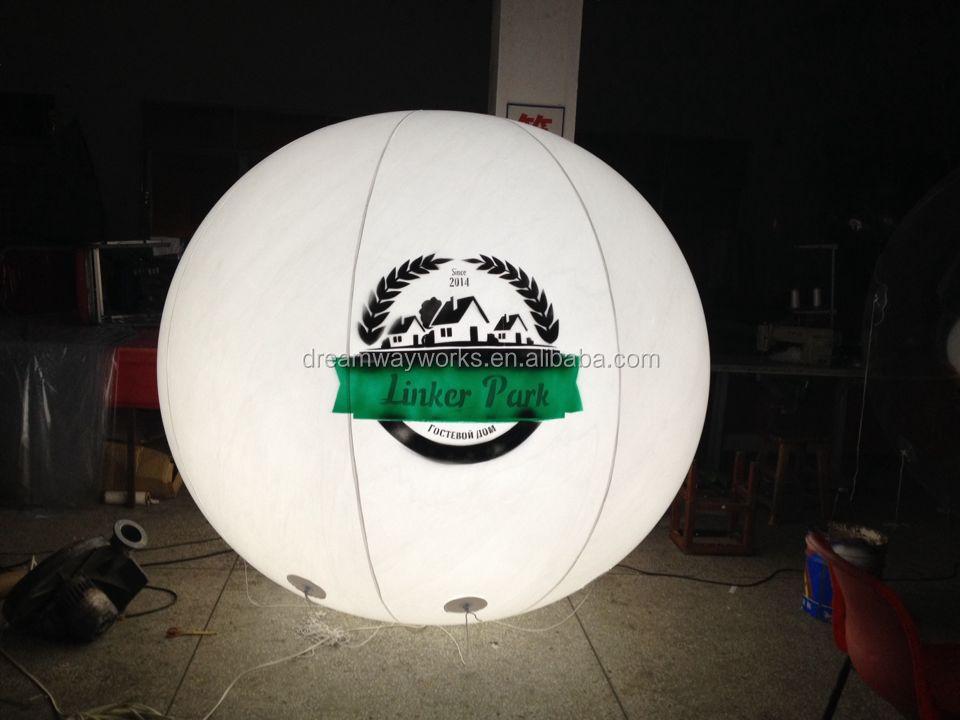 vente chaude led ballon d 39 h lium pour la publicit avec le logo libre impression buy product. Black Bedroom Furniture Sets. Home Design Ideas