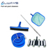 swimming pool cleaner fitting vacuum head+brush+hose+telescopic pole for manual suction cleaning accessories clean equipment set