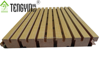 North America market factory production ISO certificate Tengyin grooved timber acoustic insulation board