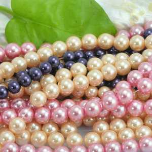 cheap wholesale different colours loose plastic pearl beads