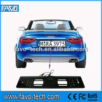 Car Number Plate Camera with EU license (number) plate frame