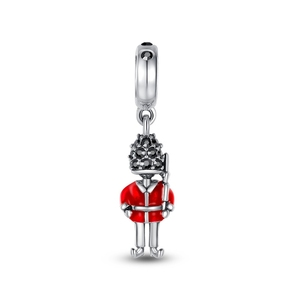 Silver Jewelry European Charm ,925 Sterling Silver Royal Guard Dangle Charm