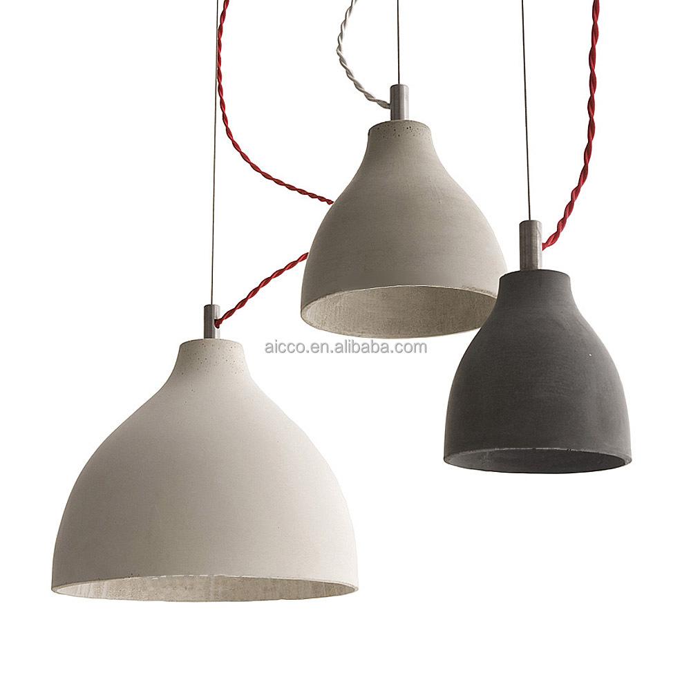 Heavy Concrete Pendant Light Decorative Hanging Pendant Light ...