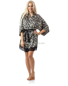 593760c81a42 Leopard Print Satin Robe Wholesale, Satin Robe Suppliers - Alibaba